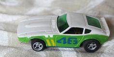 AURORA / AFX DATSUN Slot Car Green White #46