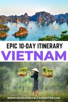 Top 10 Day Vietnam Itinerary: where to go in Vietnam, what to see in Vietnam and what to do in Vietnam in 10 days. Vietnam Travel Itinerary I Vietnam Itinerary Things to Do I Vietnam Travel Guide I Vietnam Travel Tips I Vietnam Travel Map I Vietnam Places to Visit I #Vietnam #Food #Photography #HaLongBay #Nature #Hanoi #HoiAn #Sapa #Trekking #Cruise #South #North #BeautifulPlaces #ThingsToDo #BucketList #Wanderlust #Itinerary #Trips #HoChiMinhCity #1week #2weeks  #SoutheastAsia Travel Route, Asia Travel, Places To Travel, Travel Destinations, Visit Vietnam, Hanoi Vietnam, Vietnam Travel Guide, Best Vacation Spots, Cool Places To Visit
