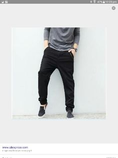 Big Size M-5XL 46 New Fashion Casual Black Jeans Mens Joggers Loose Denim  Pants ae1d83f55d6