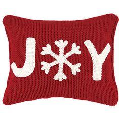 Joyful Snow Pillow
