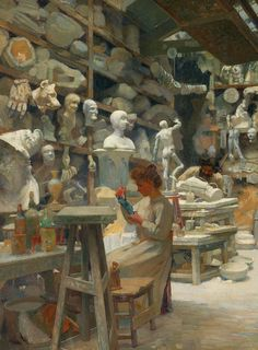 "jaded-mandarin: ""Claude Firmin. Detail form The studio of caster Sadaune, 1901. """