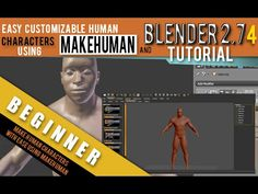 ▶ How To Make Human Characters Using Makehuman For Blender 2.74 - YouTube