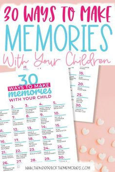 If you're looking for lots of awesome ways to make memories with your children, then keep reading. Not only is this post full of great ideas, but it also includes a free printable. You're definitely not going to want to miss it! #scrapbooking #funwithkids #kidsactivities #makingmemories #memorykeeping Sensory Activities Toddlers, Kids Learning Activities, Preschool Themes, Preschool Kindergarten, Preschool Art, Toddler Preschool, Parenting Articles, Good Parenting, Activity Ideas