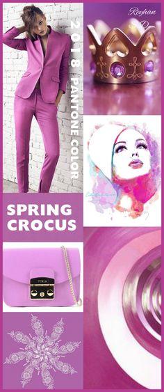 '' Spring Crocus '' - 2018 Pantone Color '' by Reyhan S.D