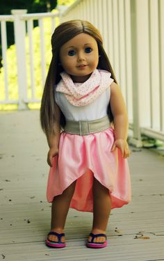 Hi-low skirts are not my style, but this little lady wears it well!