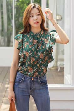 Korean Women`s Fashion Shopping Mall, Styleonme. Casual College Outfits, Summer Outfits For Teens, Stylish Outfits, Modest Dresses, Cute Dresses, Beautiful Dresses, Dress Neck Designs, Blouse Designs, Girls Fashion Clothes