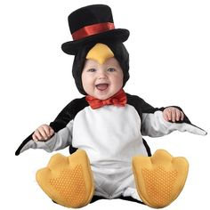 Baby Costumes - Elite Collection Lil' Penguin Baby and Infant Halloween Costume