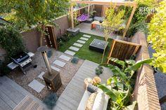 9 Beautiful Backyard Ideas for Small Yards – Garden Ideas 101 Small Urban Garden Design, Backyard Garden Design, Backyard Landscaping, Back Gardens, Small Gardens, Garden Bed Layout, Minimalist Garden, Small Space Gardening, Raised Garden Beds