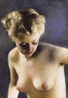 Suzanne, par Pal Fried (1893 - 1976)