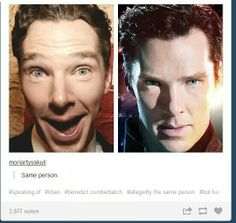 Benedict Cumberbatch - Lighting and attitude make a big difference.