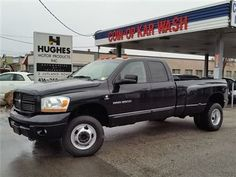 2006 Dodge Ram 3500 Sport | Quad Cab | Diesel Automatic. Chrome wheels, privacy glass, Step-up rear bumper, front split bench seat, pass-thru folding rear bench seats, rear underseat storage compartment, A/C, power package, cruise control, AM/FM/CD Player, variable speed intermittent windshield wipers, tilt-steering wheel, towing preparation package, and more.  Call Hughes Motor Products 416-252-1100