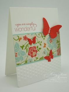 Everyday Enchantment Designer Series Paper and Adorning Accents Embossing Folders Stampin Up butterfly