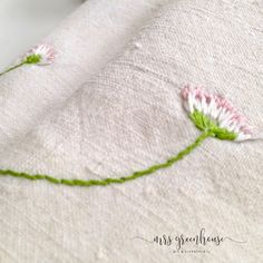 Gestickte Gänseblümchen - 10 Minuten DIY - Mrs Greenhouse