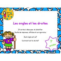 Les angles et les droites - 3e année Math Figures, Math Blocks, 3rd Grade Math, Mathematics, Curriculum, Activities, Cycle 3, Classroom Ideas, Quote