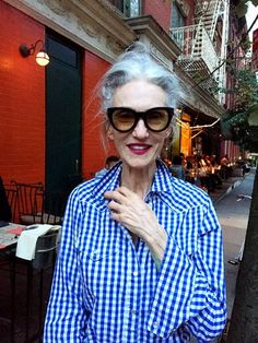 Linda in the West Village, NYC, sporting her new lipstick shade, coming next Spring!