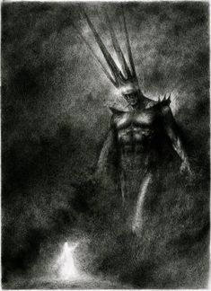 Luthien dances before Morgoth by TurnerMohan.deviantart.com on @deviantART