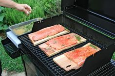 Look for the last minute summer grill recipe: Alder Plank Smoked Salmon Recipe
