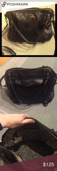 Rebecca Minkoff Satchel bag Black Rebecca Minkoff bag in good condition. Exterior shows minor signs of wear. Interior has some stains inside, but still looks in fair condition. Cute, fashionable style! Rebecca Minkoff Bags Satchels