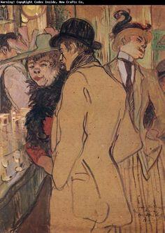 TOULOUSE-LAUTREC Henri comte de Toulouse-Lautrec-Monfa (1864 - 1901) ~