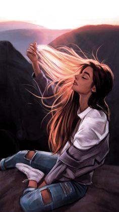 Cartoon Yourself Procreate ` Cartoon Yourself Procreate - Character inspiration Digital Art Girl, Arte Digital Fantasy, Abstract Digital Art, Cute Girl Drawing, Cartoon Girl Drawing, Girl Cartoon, Beautiful Girl Drawing, Couple Cartoon, Cartoon Drawings