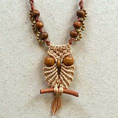 I separate this owl macrame necklace pattern with 2 parts, owl part and necklace part  Before working this project you must practice...