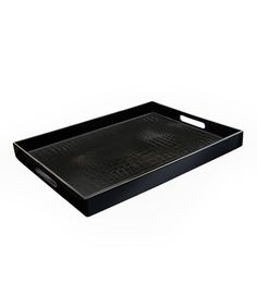 Black Alligator Rectangular Tray | Daily deals for moms, babies and kids