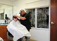 Winter First Haircuts - Hargrave Military Academy Barber Shop Haircuts, Military Hair, First Haircut, Military Academy, Hair Cuts, Barbershop, Couple Photos, Shaving, Men