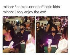 SHINee Minho supporting Exo Concert #shinee #exo #sm