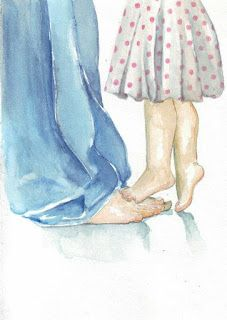 Original watercolor painting father and daughter polka dot dress denims love Father Daughter Photos, Dad Daughter, Feet Drawing, Digital Art Girl, What Is Love, Cute Art, Watercolor Paintings, Illustration Art, Drawing Hair Braid