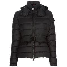 Moncler Bea Down Jacket Women Decorative Belt Black [2899969] - £153.69 : 5% off discount code: happywinter