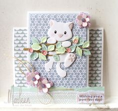 Today I am offering new items from Marianne but I can still get you the older it. Cat Cards, Kids Cards, Marianne Design Cards, Stepper Cards, Fancy Fold Cards, Animal Cards, Handmade Birthday Cards, Card Sketches, Card Tags