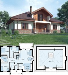 New Shabby Chic House Modern Ideas Modern Bungalow House, Modern House Plans, Small House Plans, Small Prefab Cabins, Cottage Shabby Chic, Pool House Designs, Pool House Plans, Farmhouse Architecture, Simple House Design