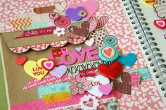 busy, but cute pages... love the cheerful colors