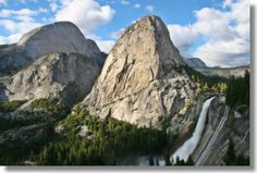 Early in summer, Nevada Falls is free running with lots of water. It is an amazing sight.