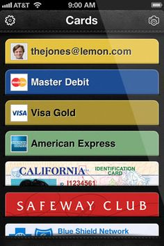 Lemon · A wallet that helps you spend smarter. lets you capture and store digital copies of ids insurance cards, etc. That's a new twist. free app