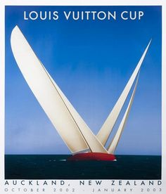 Louis Vuitton Cup Poster by Razzia Orig Auckland 2003 LARGE SIZE #Vintage