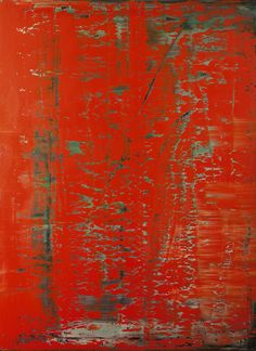 'Abstraktes Bild (rot),' by German artist Gerhard Richter via Art Info New European Painting, Abstract Expressionism, Abstract Art, Define Abstract, Gerhard Richter Painting, Modern Art, Contemporary Art, Instalation Art, Tachisme