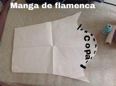 Patrón de manga de flamenca