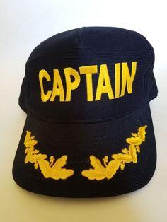 Eagle Crest CAPTAIN Men's Baseball Cap Hat Black Embroidered and Appliqued New #EagleCrest #BaseballCap