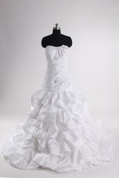 Sheath / column tulle sleeveless bridal gown with empire waist,wedding dresses