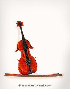 Gen Hagiwara Origami Violin | Flickr - Photo Sharing!
