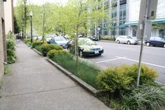 Green Streets of Portland, Oregon is part of Green street carpool commuting, renewable energy usage, recycling, and number of LEEDcertified buildings It also has quite a few innovative environmenta - Green Street, Portland City, Portland Oregon, Urban Landscape, Landscape Design, Sidewalk Landscaping, Green Corridor, Water Management, Rain Garden