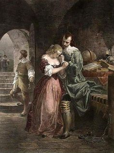 Emanuel Gottlieb Leutze (1816 – 1868)  Sir Walter Raleigh Parting With His Wife