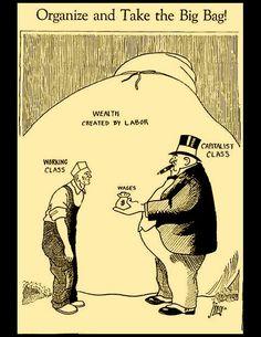 Post with 3278 views. Best ever cartoon explaining Socialism. Political Art, Political Cartoons, Society Problems, Propaganda Art, Labor Union, Industrial Revolution, Exhibition Poster, Working Class, Cartoon Shows