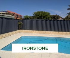 Worn-out fence spoiling your garden? We turn tired Perth fences into modern backdrops. See our fence spray paiting makeovers. Backyard Fences, Backyard Landscaping, Fence Around Pool, Open Wardrobe, Garden Screening, New Home Designs, Decking, Screens, Gates