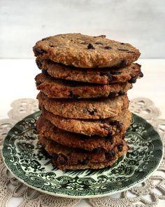 Coentros & Rabanetes: Bolachas de aveia banana e coco com pepitas de chocolate | Oat, banana and coconut cookies with chocolate chips