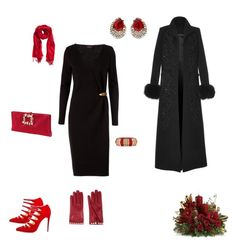 """""""Merry Christmas"""" by lle00000 ❤ liked on Polyvore featuring Lanvin, Elie Saab, Roger Vivier, Ben-Amun, Valentino and H&M"""
