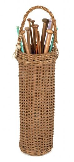 Knitting Needle Basket and Knitting Needles - Birmingham Museums & Art Gallery