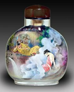 snuff bottles with painting