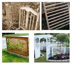 DIY Garden Trellis - Living in a house with a garden is always a dream come true for those who are into gardening. You are not just keen on planting flowers Outdoor Projects, Garden Projects, Outdoor Ideas, Diy Projects, Outdoor Spaces, Outdoor Living, Outdoor Retreat, Old Cribs, Sloped Yard